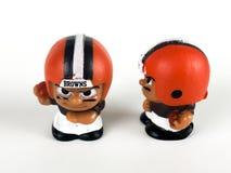 Teammates Toy Figures van Cleveland Browns Li ` l stock fotografie