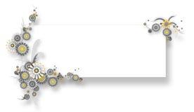 Teamplate da bandeira da camomila Ilustração Stock