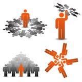 teamplay affärssymboler royaltyfri fotografi