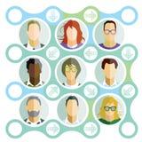 Teamprofielen vector illustratie