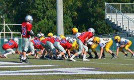 Teams betriebsbereit, Fußball zu spielen Stockfotografie