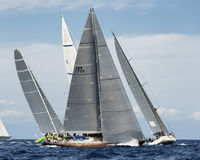 Teams competing on Maxi Yacht Rolex Cup sail boat race in Sardinia Stock Photography