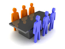 Teams conference. Concept 3D illustration Stock Image