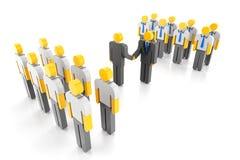 Teams die Zusammenarbeit Lizenzfreie Stockfotografie