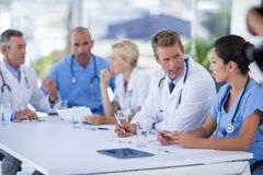 Teams of doctors working together Royalty Free Stock Image