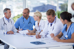Teams of doctors working together Stock Image