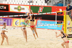 Teams from Germany play volleyball Stock Photography