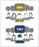 Teams stock illustration