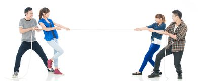 Pulling cord Royalty Free Stock Photos