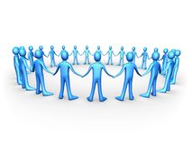 Teams - United People - Blue Stock Photo