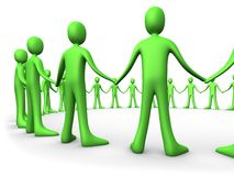 Teams - United People - Green Royalty Free Stock Image