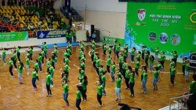 Teamshow am Studentenfestival des Wettbewerbs Stockbilder