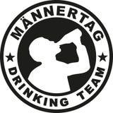 Teamstempeldeutscher des Vatertags trinkender stock abbildung