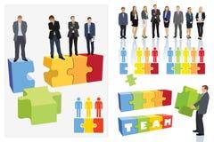 Teamverwezenlijking Stock Foto's