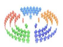 Teamwork über Weiß Lizenzfreie Stockbilder