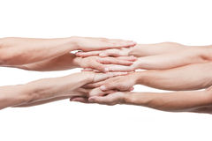 Teamwork. Concept photo of success teamwork Royalty Free Stock Photography