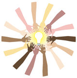 Teamwork. Can bring great ideas. Vector Illustration showing diversity and Royalty Free Stock Photography