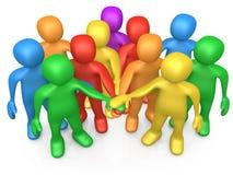 Teamwork. Computer Generated 3D Image - Teamwork Stock Photos