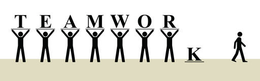 Teamwork. Is not for everyone in the workplace Royalty Free Illustration