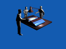 Teamwork. A 3d illustration on the teamwork concept Stock Image