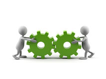 Teamwork. royalty free illustration