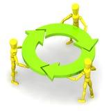 TeamWork. A Colourful 3d Rendered Teamwork Concept Illustration Stock Image