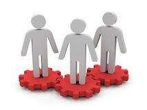 Teamwork. lizenzfreie abbildung