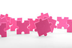 Teamwork. Puzzles close up, business concept teamwork Stock Image