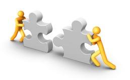 Teamwork. 3d rendered image on white background: Teamwork Royalty Free Stock Photos
