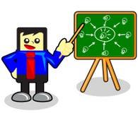 Teamwork. Illustration of cartoon businessman presentation about teamwork Stock Photography