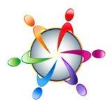 Teamwork vector logo stock illustration