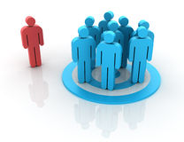 Teamwork. Three dimensional illustration of Teamwork Concept made with pictogram people Royalty Free Stock Image