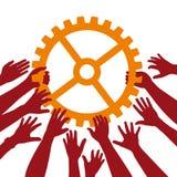 Teamwork lizenzfreie abbildung