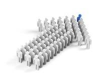 Teamwork. 3d image. Stock Image