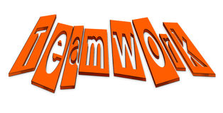 Teamwork 3D text Royalty Free Stock Photos