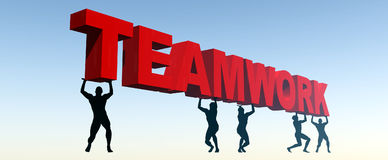 Teamwork 4. This is a conceptual image of teamwork Stock Photos