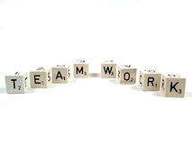 Teamwork. The word teamwork spelled out royalty free stock images