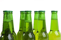 Teamwork. Team made of fresh, cold beer bottles Royalty Free Stock Image