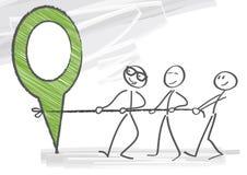 teamwork ilustração stock