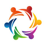 Teamwork 6 people stripes logo Stock Images