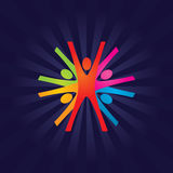 Teamwork. Abstract Colorful Vector Teamwork Background Royalty Free Stock Photo