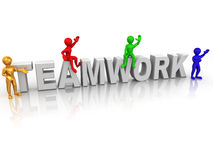 Teamwork stock illustration