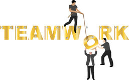 Teamwork. This is a conceptual image of teamwork Stock Photography
