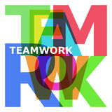 Teamwork - abstract color letters. On white background stock illustration
