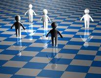 Teamwork abstract concept with chessboard blue illustration Royalty Free Stock Photos