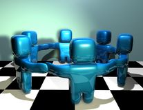 Teamwork abstract 3d concept illustration Royalty Free Stock Image