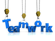 Teamwork. Abstract 3d illustration of teamwork concept Stock Images