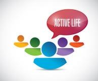 Teamwork active life sign illustration design Stock Photography