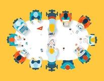 teamwork Affaires faisant un brainstorm la vue supérieure illustration de vecteur