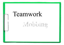 Teamwork against mobbing Stock Images